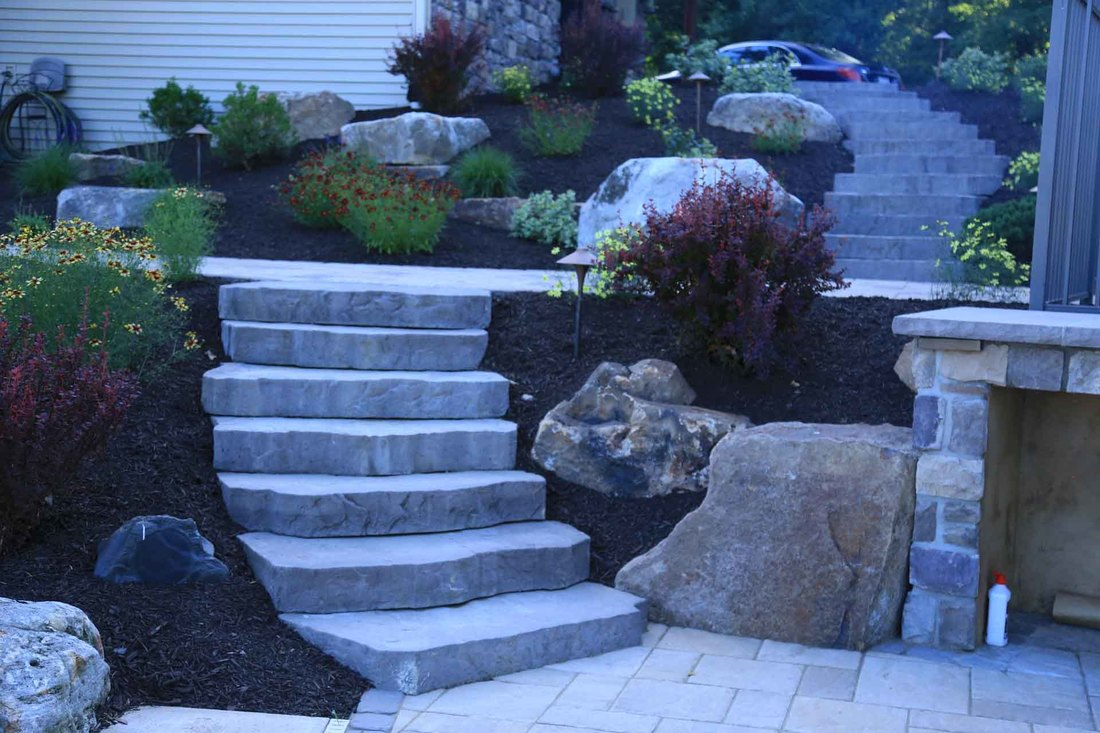 Natural Stone Steps, Paver Patios & Walkways