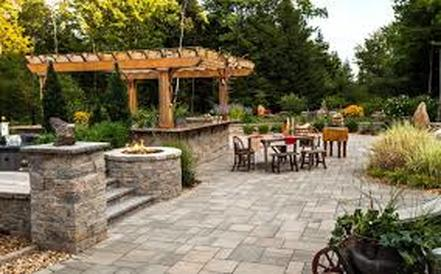 Outdoor Kitchens, Paver Patios, Pillars, Firepit