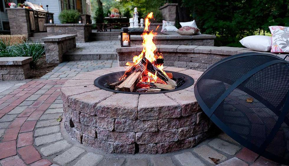 Outdoor Firepit, Paver Patio