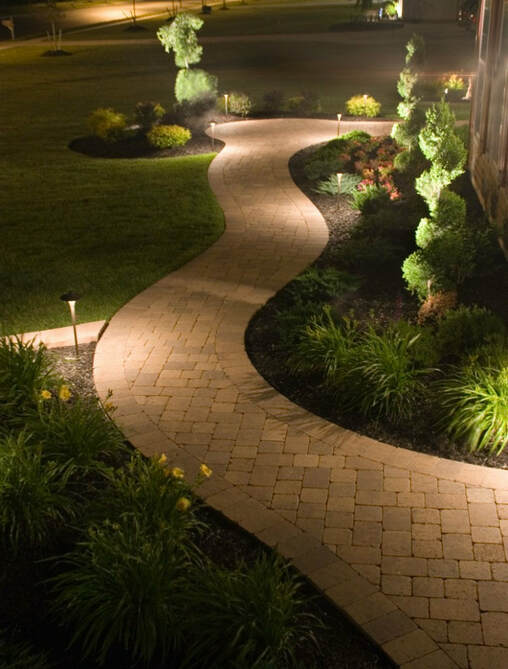 Beautiful Sidewalk with Outdoor Lighting - Hollidaysburg PA